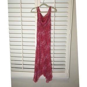 Pink beaded cocktail dress